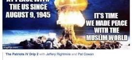 مسؤول أمريكي يحث على ضرب المسلمين بالسلاح النووي