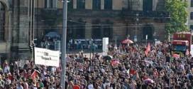 مظاهرات دريزدن مناصرة للاجئين السوريين
